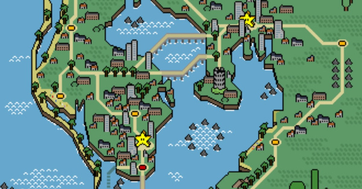 French Artist Commissioned to Create Mario-Style Map of Tampa Bay